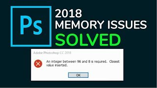 an integer between 96 and 8 is required photoshop cc