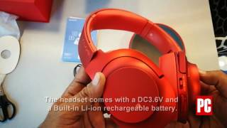 unboxing the sony hear on mdr 100abn headphones