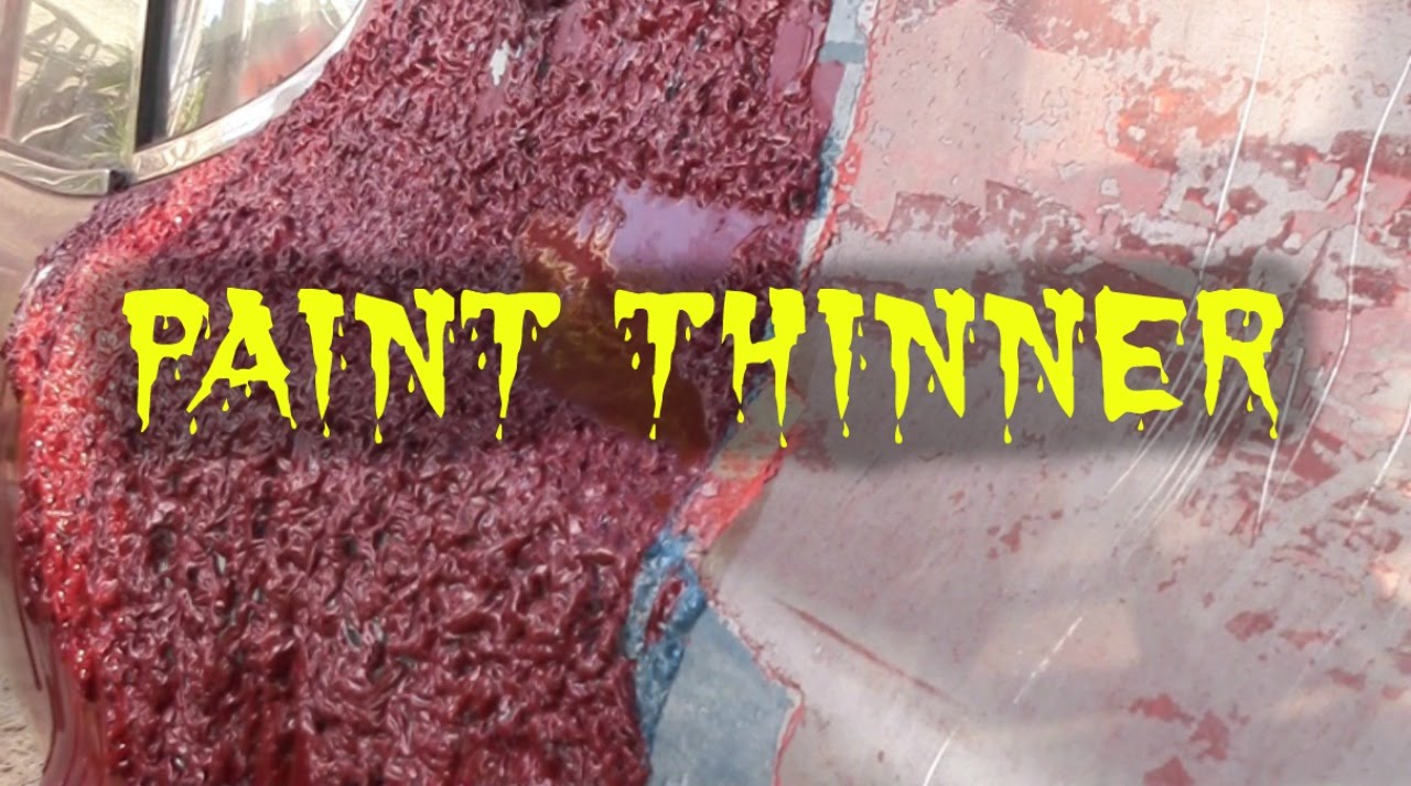 what happens when you Spill PAINT THINNER ON YOUR CAR ? ? ?