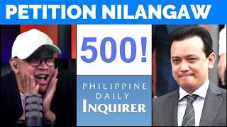 DUTERTE PETITION nilangaw, umabot ng 500 binalita pa ng INQUIRER 'Baka may pangmeryenda?'
