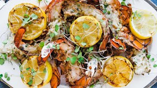 How to Grill Lobster Tails with Herb Honey Butter Recipe