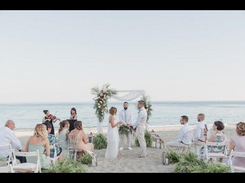 Beach Wedding in the Riviera by Giovanna Damonte at Villa La Spagnuola, Marchesi Gavotti