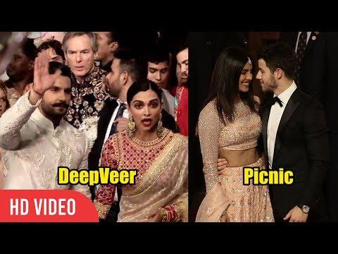 Newly Wed Couple Deepika-Ranveer and Priyanka-Nick arrives at Isha Ambani Wedding