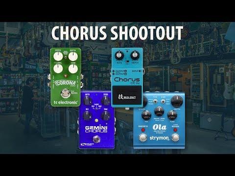 Chorus Pedal Shoot Out - TC Electronic Corona vs Source Audio Gemini vs Boss CE-2w vs Strymon Ola