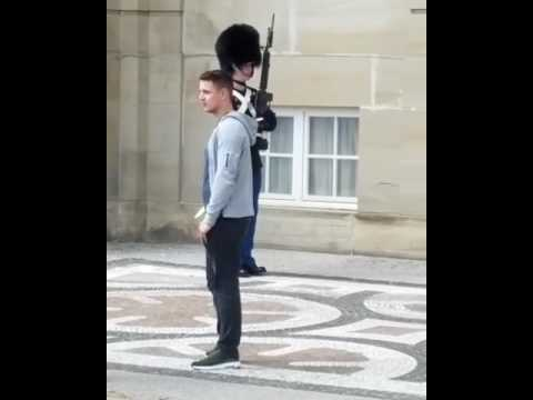 Danish royal guard at Amalienborg Castle.