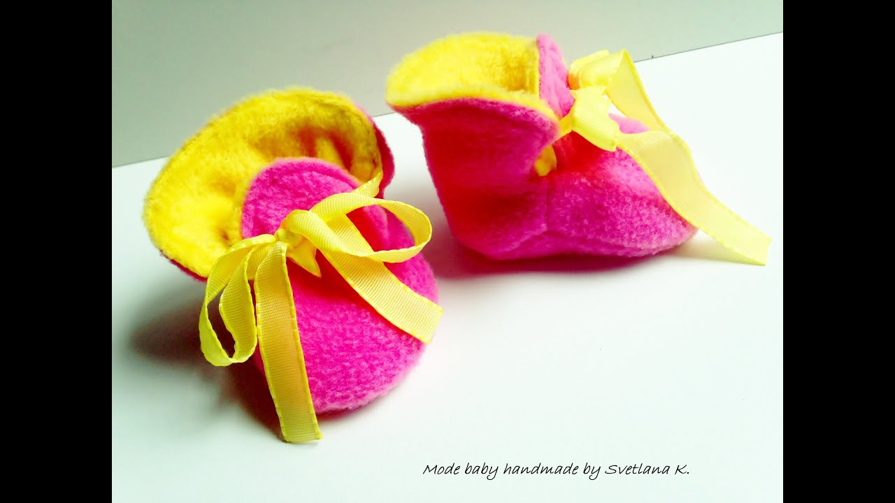 Exceptionnel Tutoriel chaussons bébé réversible : couture - YouTube EG49