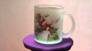 Чашка из матового стекла с вашим фото.(Вот так выглядит фото на стеклянной матовой чашке. Весь ассортимент чашек на www.pan-drukar.com.ua и www.4ashka.com.ua., 2014-01-20T16:04:03.000Z)