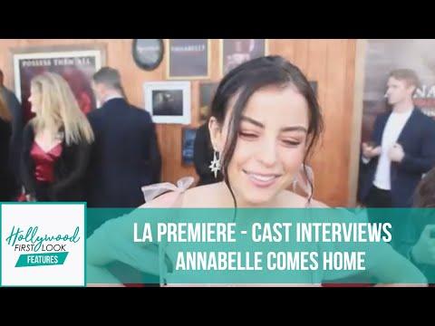 ANNABELLE COMES HOME (2019)   LA PREMIERE - CAST INTERVIEWS With AMY CASSANDRA MARTINEZ