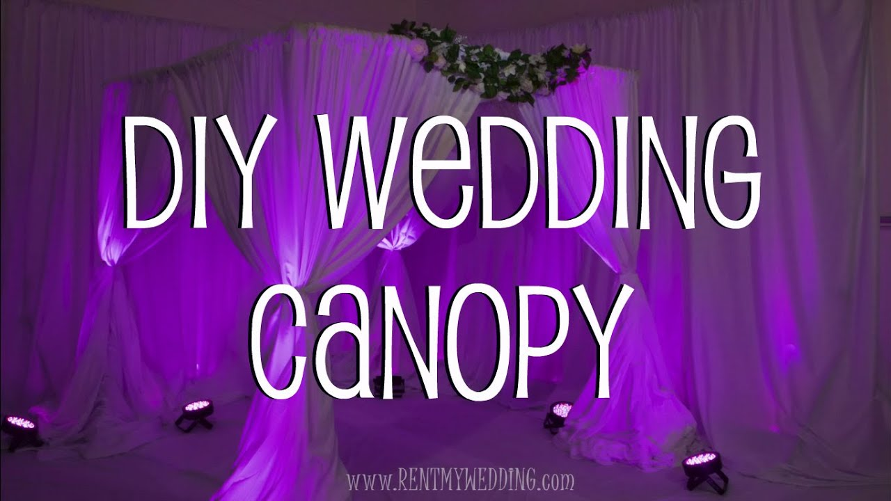 sc 1 st  YouTube & How To Setup A DIY Wedding Canopy or Chuppah - YouTube