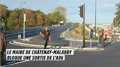 Le maire de Châtenay-Malabry bloque une sortie de l'A86
