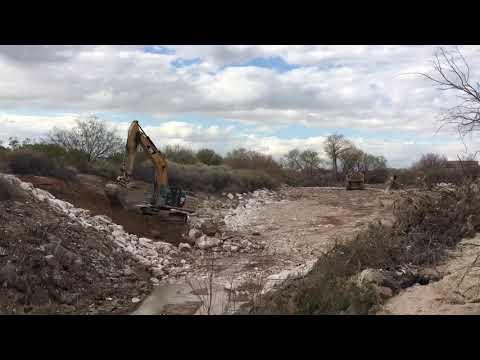 Las Vegas Wash Visitor Center Weir construction