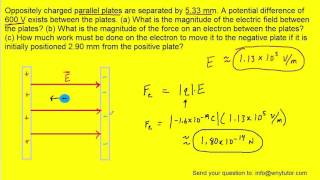Ters dolu paralel plakalar 5.33 mm ayrılır. 600 V potansiyel farkı var