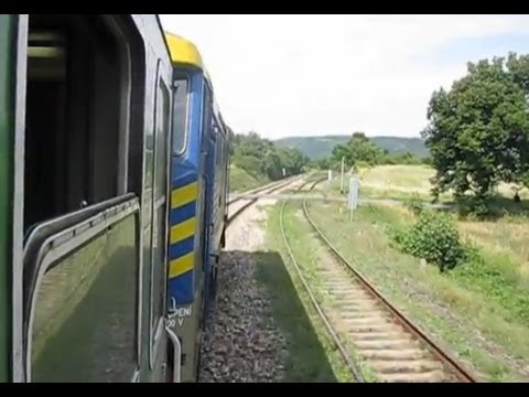 Czech Republic: Leaving Jince, Pribram District,on Class 749 039-4 to Prague, Praha Hlavni Nadrazi
