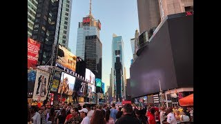 ⁴ᴷ⁶⁰ Walking NYC (Narrated) : Power Outage & Manhattanhenge - Broadway from 72nd St to 42nd St