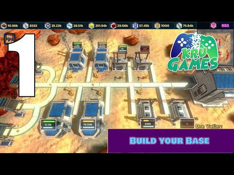 Idle Space Mining 3D Gameplay Walkthrough #1 (Android, IOS)