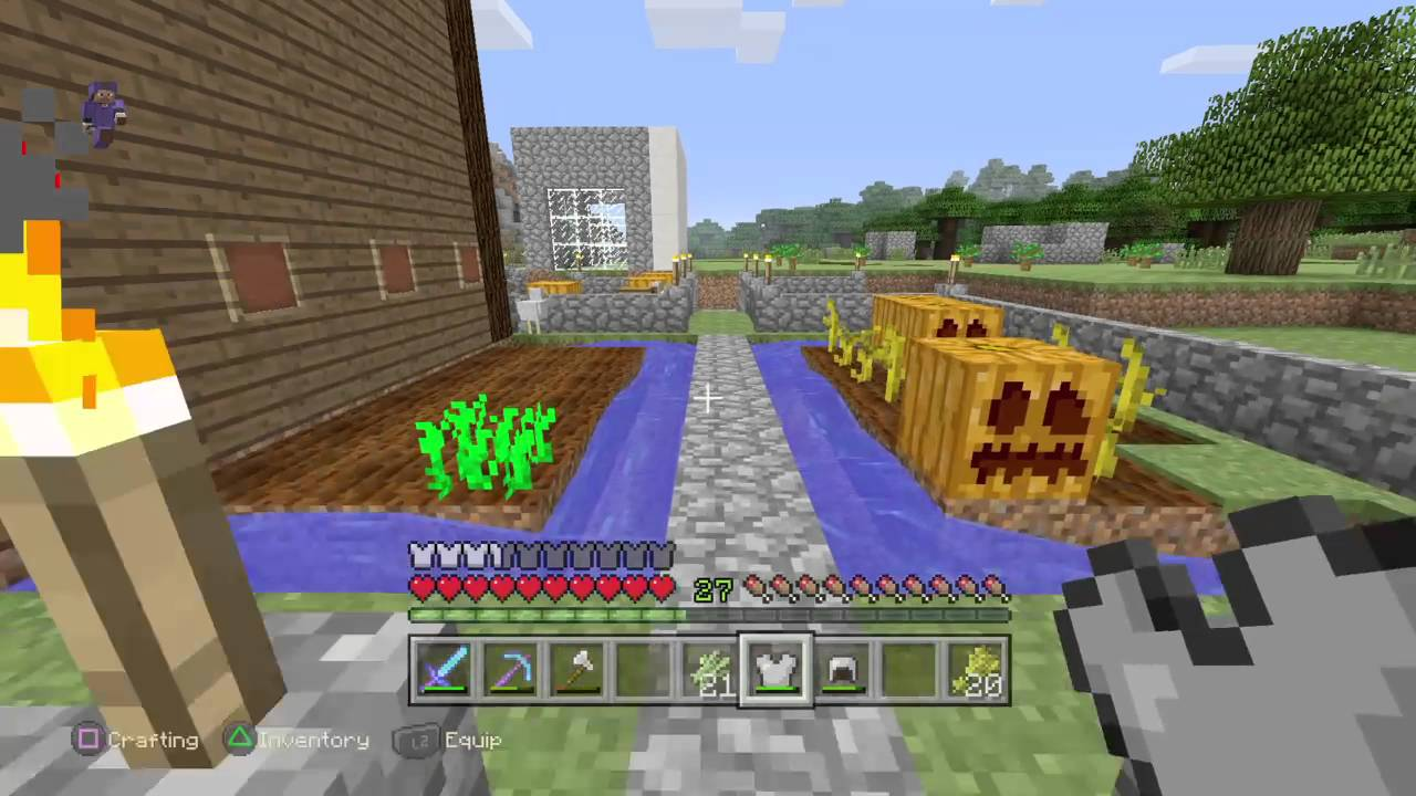 how to get leather in minecraft ps4