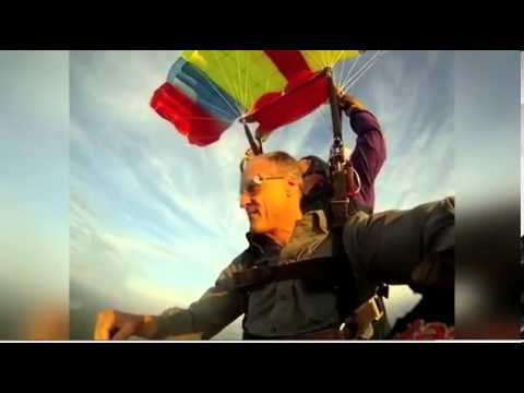 Sixty year old Governor goes skydiving Amazing jump