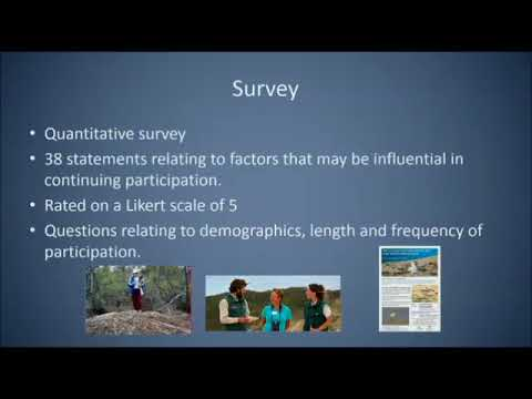 R Upton: The Importance of Conservation Ethic & Commitment To in the Retention of Citizen Scientists