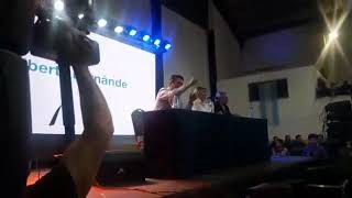 Video: Rosana Bertone, Martín Pérez y Alberto Fernández en el Club Sportivo