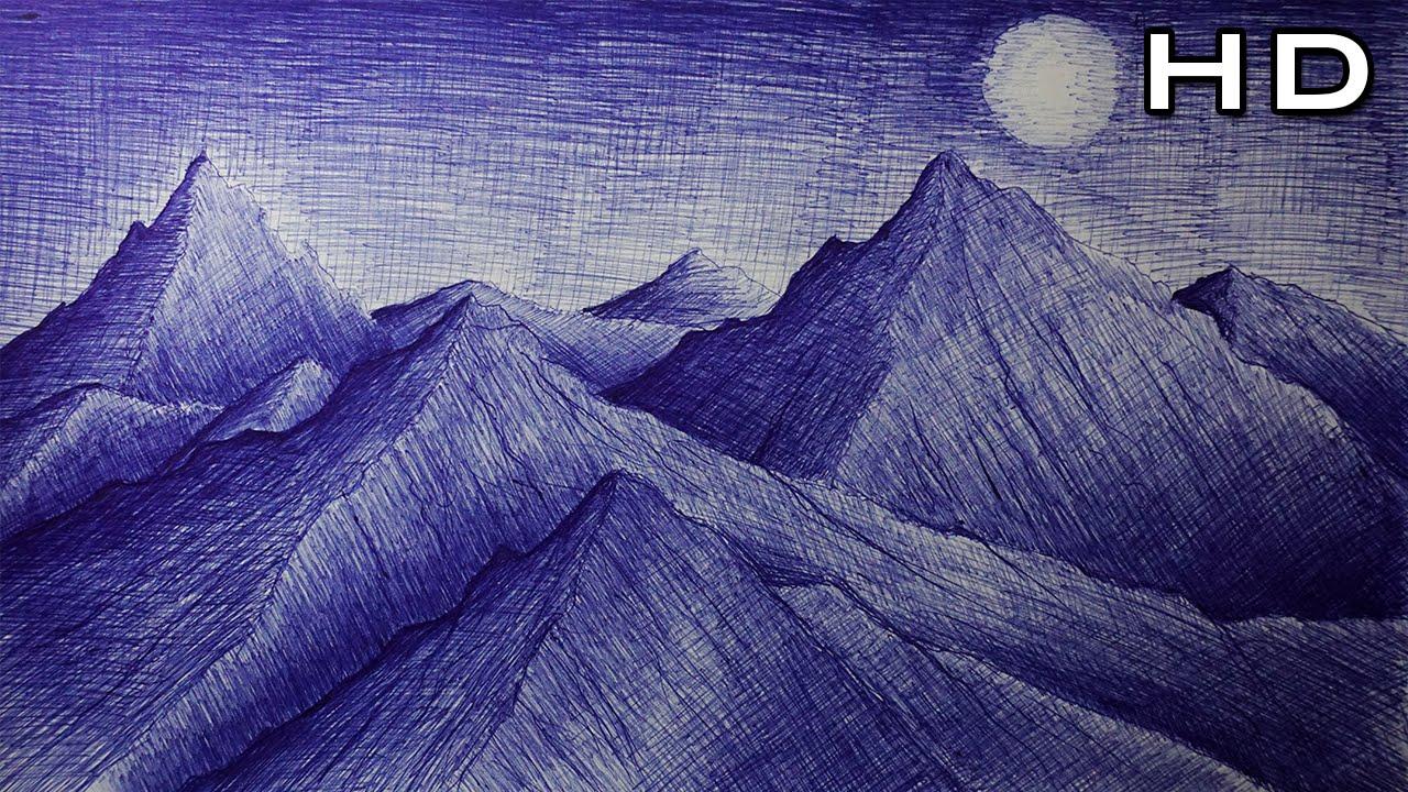 C mo dibujar un paisaje de monta as con bol grafo paso a - Como hacer un lapicero de madera ...