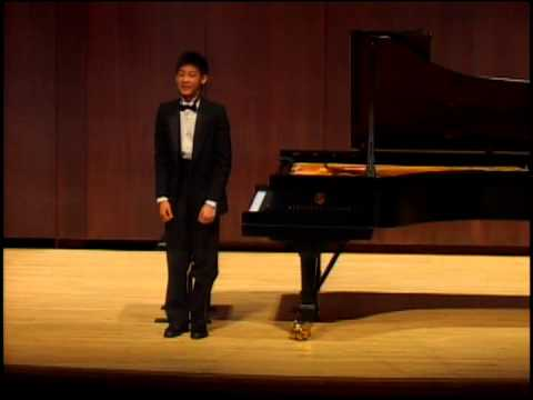 Kevin Jang Piano Recital @ Juilliard School's Paul Recital Hall, New York