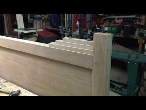 White Oak Headboard From Salvaged Wood