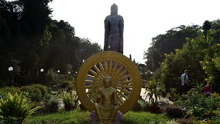 Sarnath Thai Temple With Giant Buddha Statue Near Varanasi India