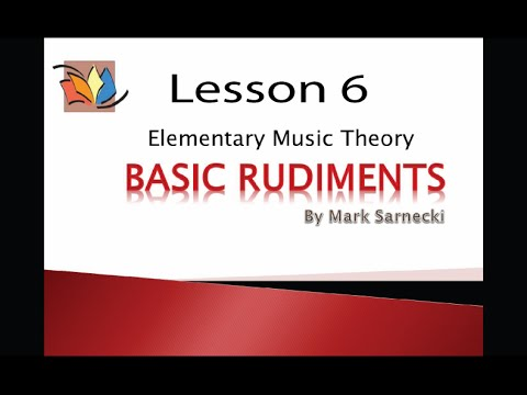 Music Theory Lesson 6