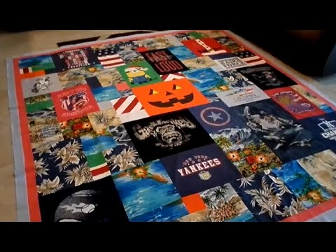How to Make a Collage Style T-Shirt Quilt - YouTube : making a t shirt quilt - Adamdwight.com