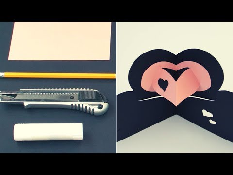 Tarjetas de amor hechas a mano - YouTube