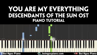 You are my everything - Gummy (Descendants of the Sun OST) | Piano tutorial #70 | Bội Ngọc Piano