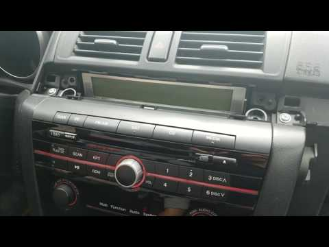 How To Remove Radio / CD Changer From Mazda 3 2008 For Repair.
