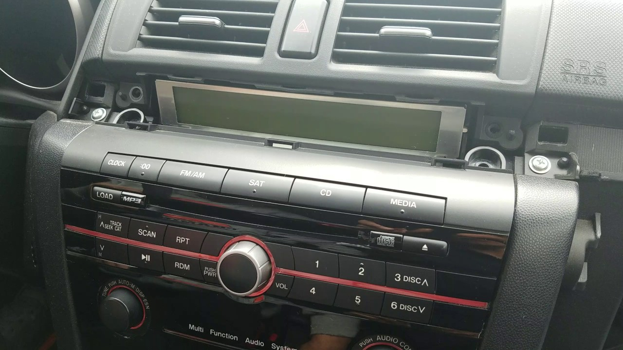 how to remove radio cd changer from mazda 3 2008 for. Black Bedroom Furniture Sets. Home Design Ideas