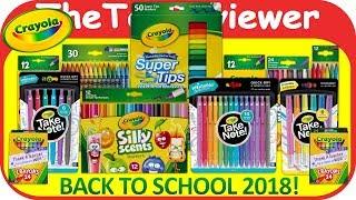 Crayola Back To School Haul 2018 Take Note Silly Scents Supply Unboxing Toy Review by TheToyReviewer