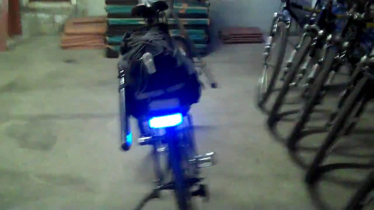 Police Bike Patrol emergency light system