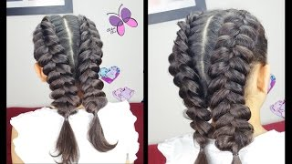 Thick /Pankaced Dutch Braids | Easy Hairstyles | Braided Hairstyles