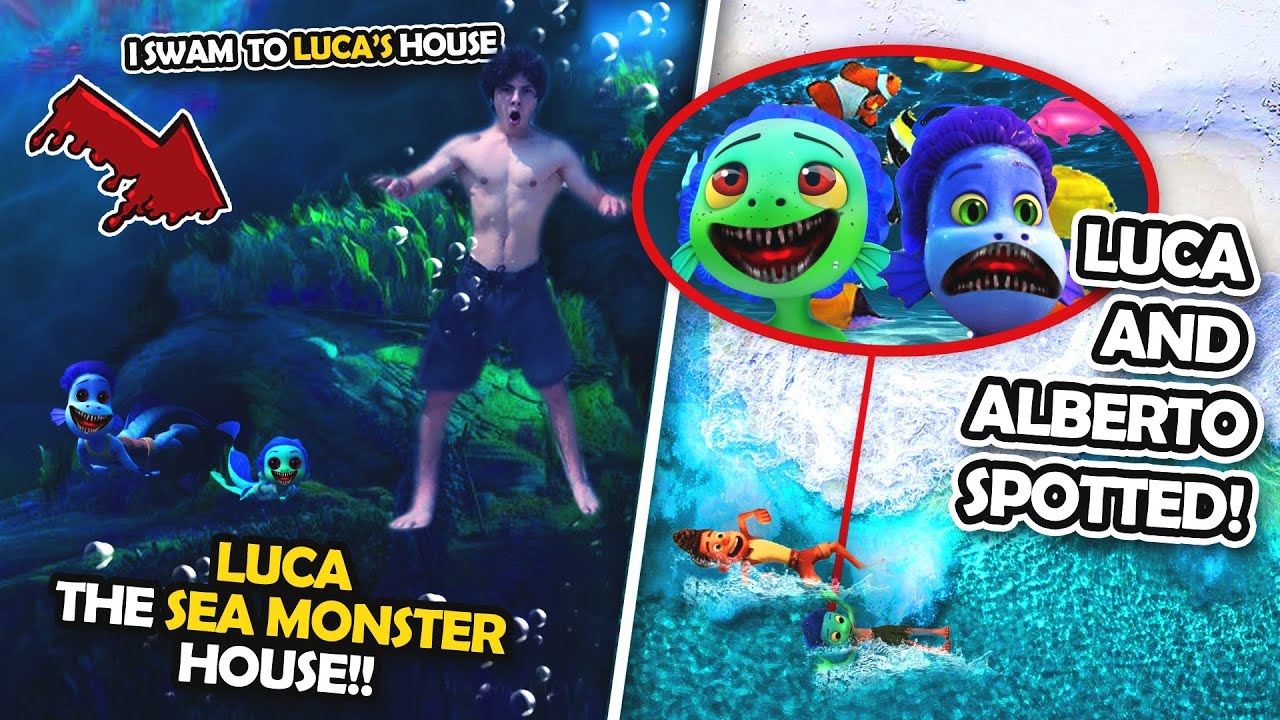 DRONE CATCHES LUCA THE SEAMONSTER'S HOUSE IN THE OCEAN!! (LUCA AND ALBERTO SPOTTED)
