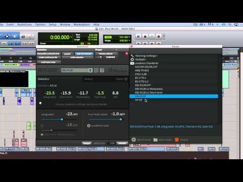 Using RX Loudness Control in Avid Pro Tools
