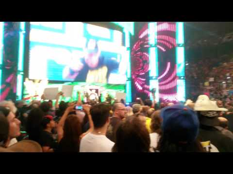 WWE RAW Montreal (07-07-2014) - John Cena Throw his Hat right in my face !