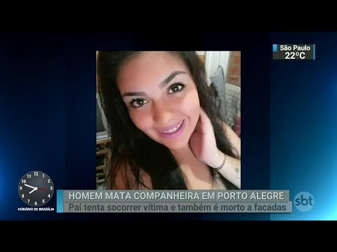 Mulher é morta a facadas por companheiro em Porto Alegre | SBT Brasil (27/03/18)