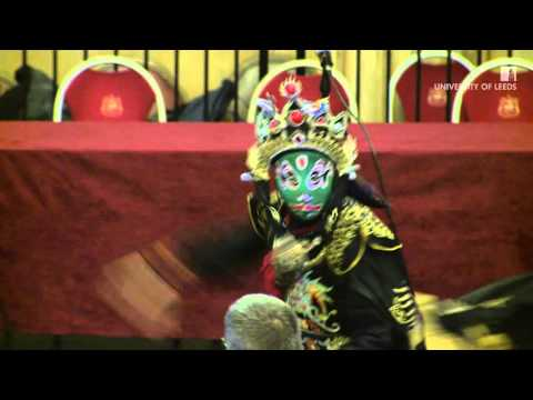 Chinese face-changing performance at the Yorkshire and Humber Chinese New Year Dinner 2016