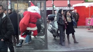 Best fails 2018 - Santa Claus in Paris hidden camera! Camera cachée en Père Nöel à Paris