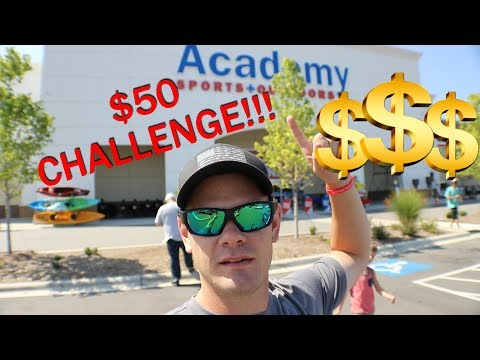 $50 ACADEMY SPORTS CHALLENGE!!! - BASS Fishing on a BUDGET!