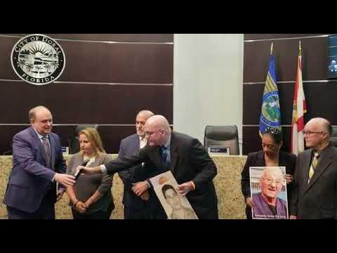 La Ciudad del Doral proclama el Día de Armando Sosa Fortuny - 8 de enero de 2020