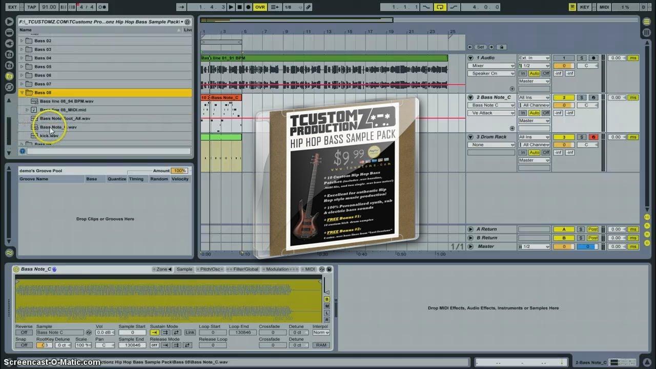 TCustomz Productionz Hip Hop Bass Sample Pack Demo (Custom Bass Samples)