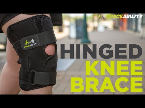 BraceAbility Bariatric Knee Brace with Hinges for Meniscus Tears and Arthritis Joint Support