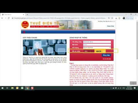 Hướng dẫn đăng nhập etax - https://thuedientu.gdt.gov.vn/