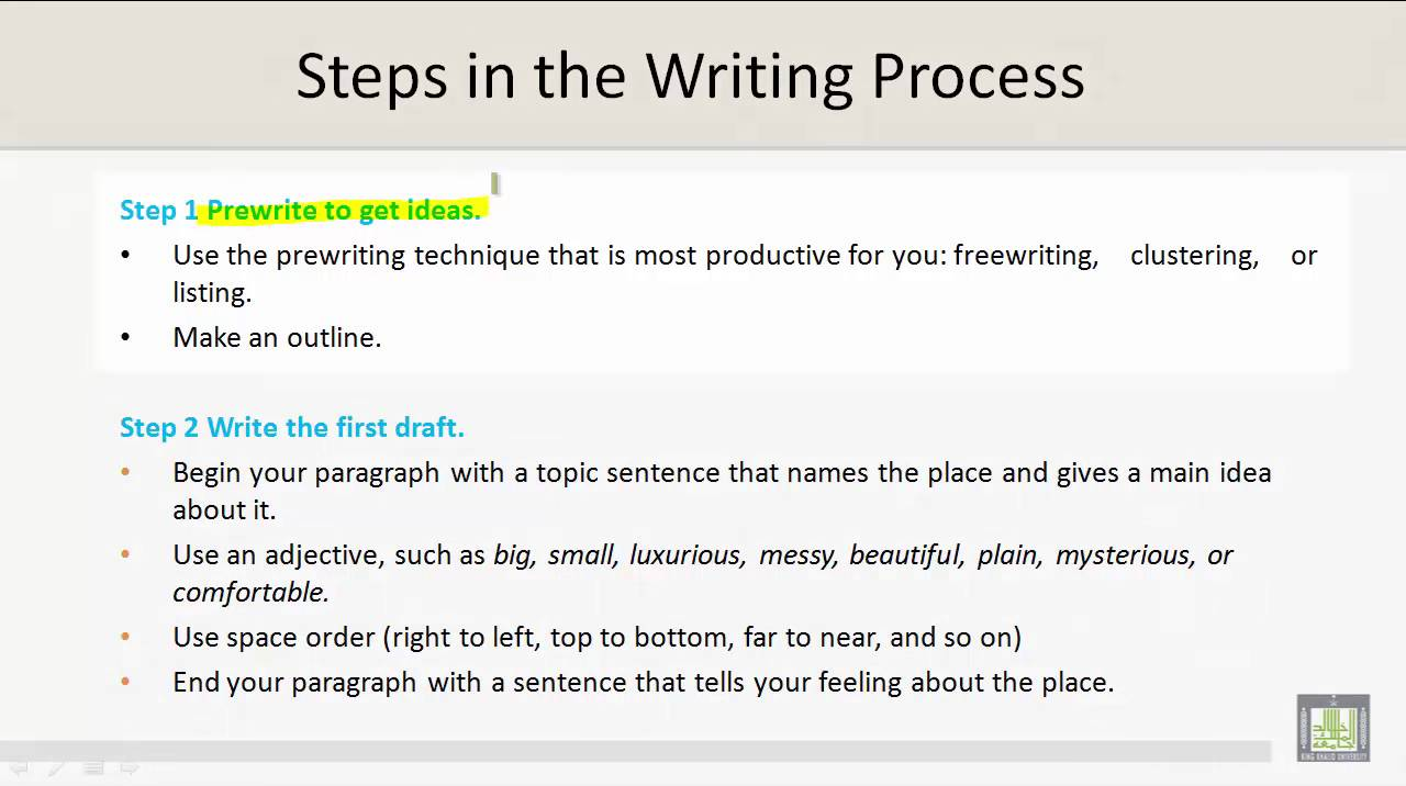 Technical Report Writing | U4-L9 | Steps in the Writing Process ...