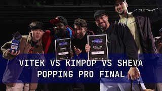 Vitek vs Sheva vs Kimpop Popping pro FINAL Back to the future battle 2021