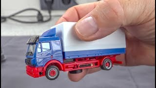 AWESOME micro scale RC Truck and Trailer unboxing and driving!